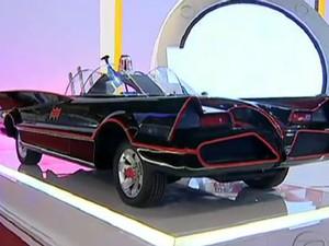 Sucesso no Salão do Automóvel, Batmóvel vira miniatura (Foto: Reprodução/TV Globo)