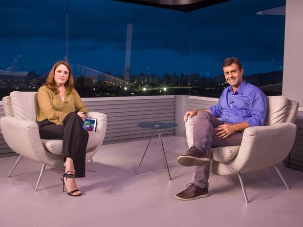 marcelo Freixo é entrevistado no  RJTV (Foto: TV Globo)