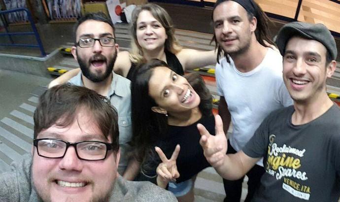 Galera da Gringo's Washboard Band só tem gratidão pelas experiências vividas no SuperStar (Foto: Arquivo pessoal)