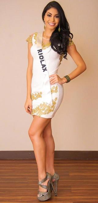 Sheislane Hayalla, segunda colocada no Miss Amazonas 2015 (Foto: Mauro Jorge/Divulgação)