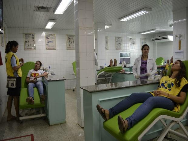 Dia de Mobilização Nacional de Diação de Sangue no Hemoap em Macapá (Foto: Maiara Pires/G1)