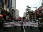 Manifestantes ocupam ruas de Juiz de Fora contra reforma da Previdência