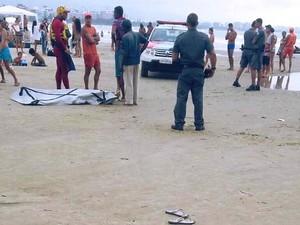 Corpo de jovem foi encontrado em praia de Bertioga, SP (Foto: Aconteceu em Bertioga / Arquivo Pessoal)