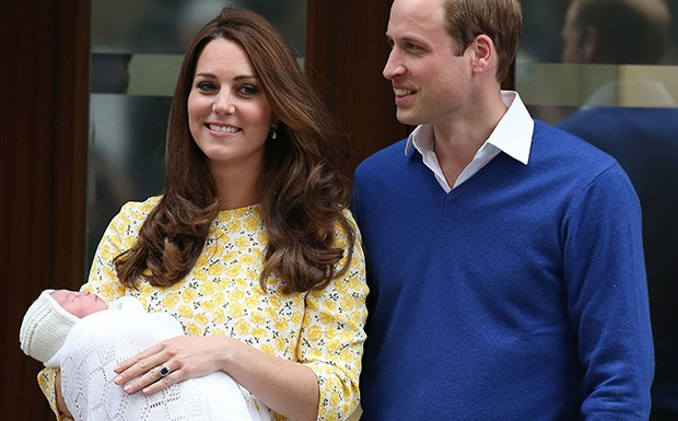 Kate Middleton e o Prncipe William apresentam a filha ao mundo (Foto: Getty Images)