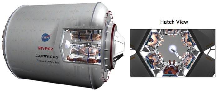 As cabines de sono profundo Vision System Torpor Habitat Design (Foto: John Bradford via NASA)