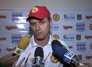 José Luís Drey, técnico do Atlético Sorocaba (Foto: Reprodução / TV TEM)