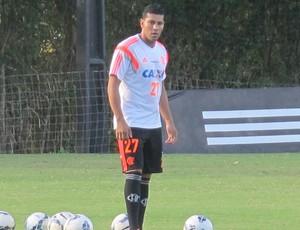 Andre Santos treino Flamengo (Foto: Thales Soares)