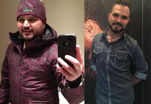 Antes e depois do Luciano Camargo (Foto: Reprodução/ Instagram)