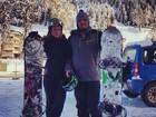 Ronaldo aprende a fazer snowboard: 'Quantas vezes acham que cai?'