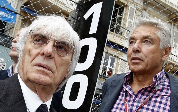Bernie Ecclestone com Peter Brabeck, em Mônaco (Foto: Reuters)