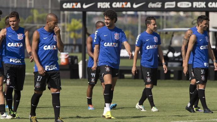 Mano Menezes jogadores treino Corinthians grupo (Foto: Daniel Augusto Jr / Agência Corinthians)