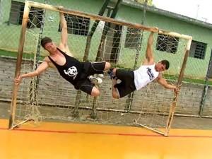 Exercícios ao ar livre (Foto: TV Globo)