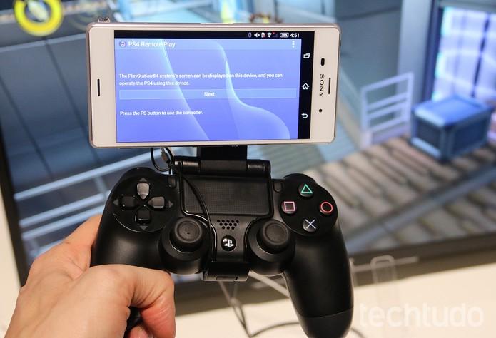f00e7711bd3 Novos aparelhos da linha Xperia Z3 têm integração com o PS4 (Foto  Fabrício  Vitorino