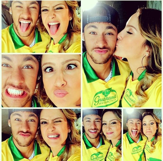 """Neymar E Claudia Leitte Tiram """"selfies"""" Em Campanha"""
