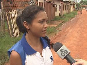 Ana Ferreira é moradora do bairro Baixada da habitasa (Foto: Reprodução/TV Acre)
