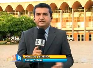 """"""" ... """", revela repórter Marcos Teixeira. (Foto: Reprodução/TV Clube)"""