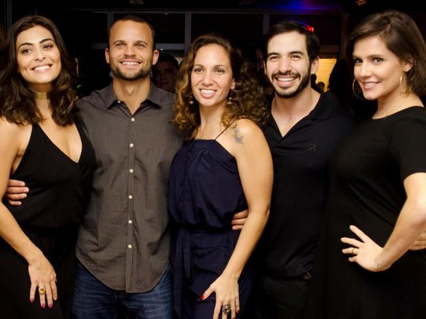 Juliana Paes, Rafael Lund, Fernanda Leone, Wander Fernandes e Deborah Secco em evento no Rio (Foto: Guilherme Taboada/ Divulgação)