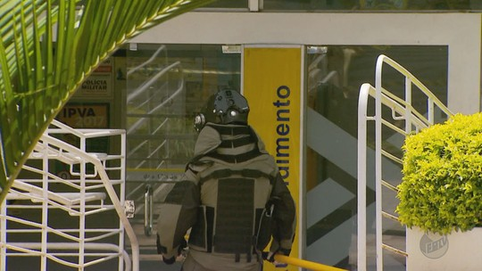 Bope desarma explosivos deixados em agência bancária no Sul de Minas
