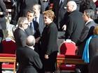 Dilma assiste à missa inaugural de Francisco (AFP)