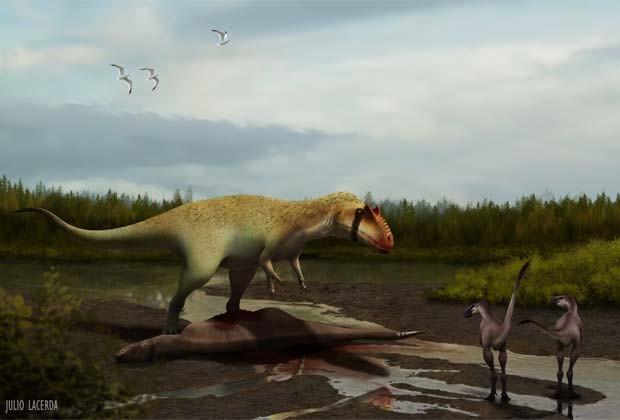 Os Siats eram muito maiores do que os tiranossauros, aponta estudo (Foto:  Lindsay Zanno, artist: Julio Lacerda)