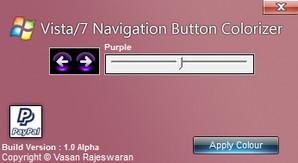 Cor dos botões