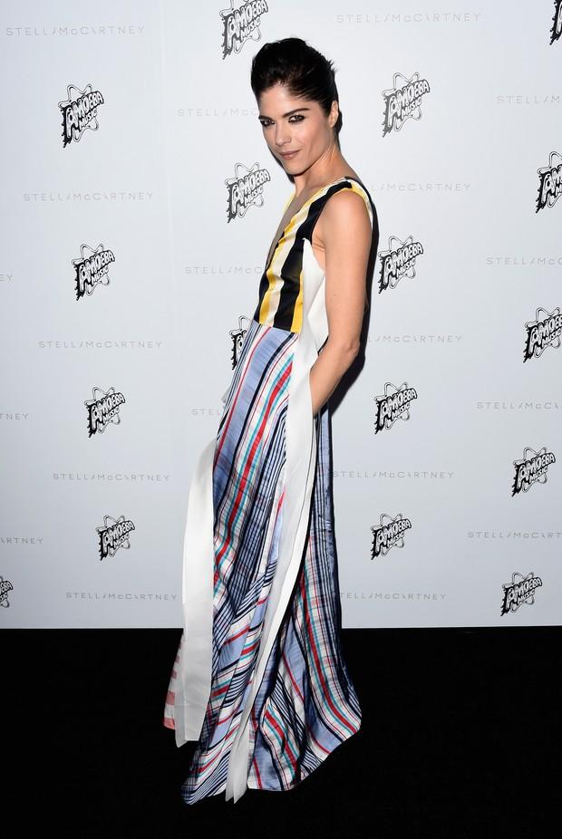Selma Blair em evento de moda em Los Angeles, nos Estados Unidos (Foto: Frazer Harrison/ Getty Images/ AFP)