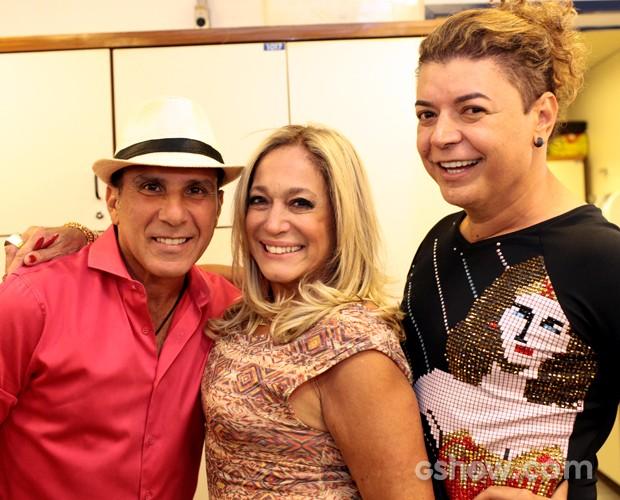 Susana Vieira Eri Jhonson David Brazil bastidores Top 9 620x500 (Foto: Dafne Bastos/TV Globo)