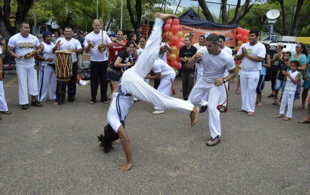 Roda de Capoeira na segunda edição do Saúde de Rua (Foto: Herianne Cantanhede)