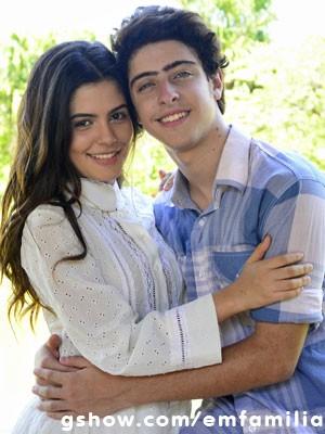 Julia e Eike Duarte já eram amigos antes de Em Família (Foto: Ellen Soares / TV Globo)
