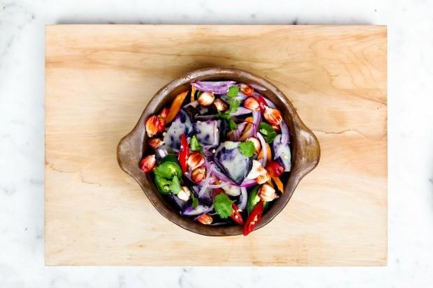 Jantar vegano (Foto: Reproduo/ Pexels)