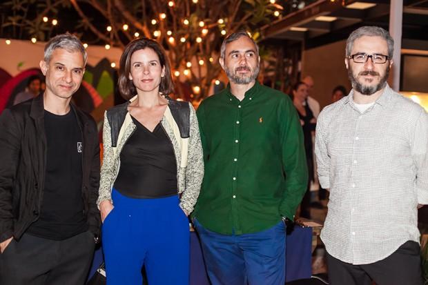 Sylvain Justum, Verônica Campos, Piti Vieira e Patrick Cruz (Foto: Charles Naseh )