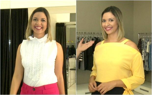 Aline Vieira destaca os looks que costuma utilizar para apresentar o Acre TV (Foto: Amazônia Revista)