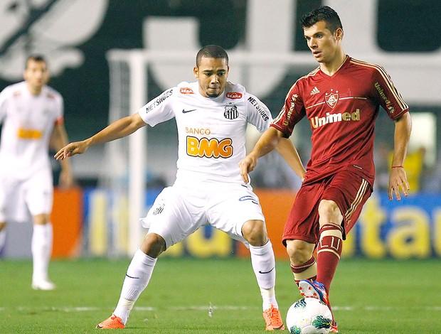 Wagner na partida do Fluminense contra o Santos (Foto: Ag. Photocamera)
