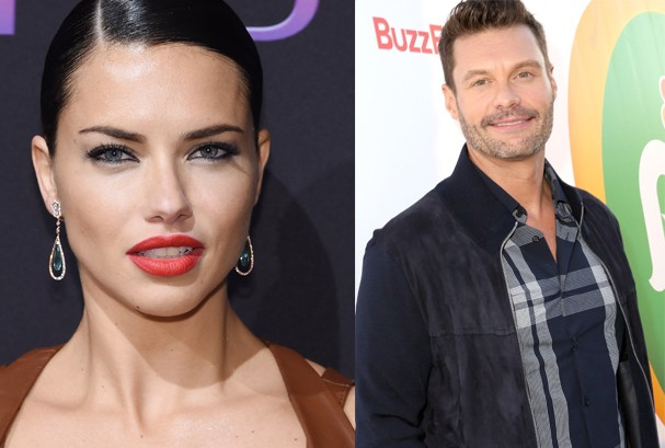 Adriana Lima e Ryan Seacrest (Foto: Getty Images)