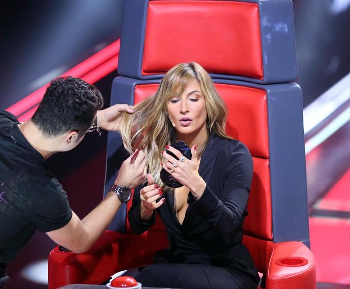 Diva que é diva recebe tratamento de musa  (Foto: Isabella Pinheiro / Gshow)
