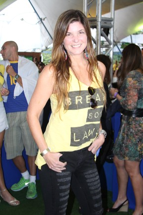 Cristiana Oliveira em festa na Zona Sul do Rio (Foto: Magrão Fotógráfo/ Divulgação)