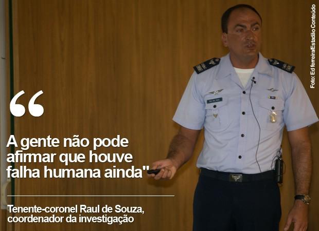 Frase coordenador investigação do acidente de Eduardo Campos (Foto: Arte/G1)