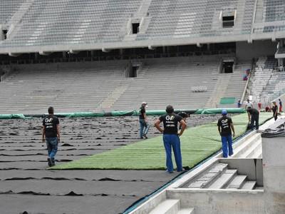 grama Arena da Baixada Atlético-PR (Foto: Site oficial do Atlético-PR/Divulgação)