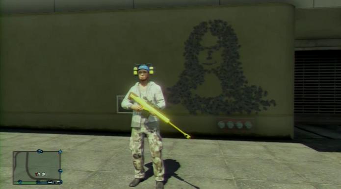 GTA 5: Jogador reproduziu a Mona Lisa dando tiros na parede. (Foto: Reprodução/YouTube)