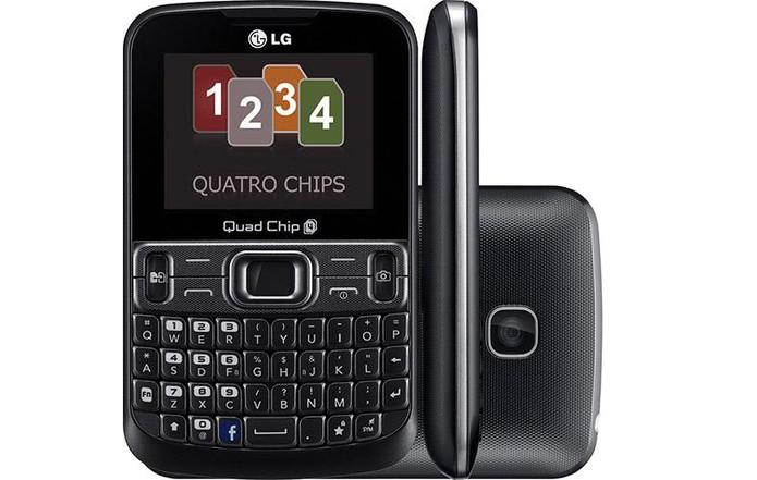 Celular LG C299 tem botão rápido para acessar o Facebook (Foto: Divulgação/LG)