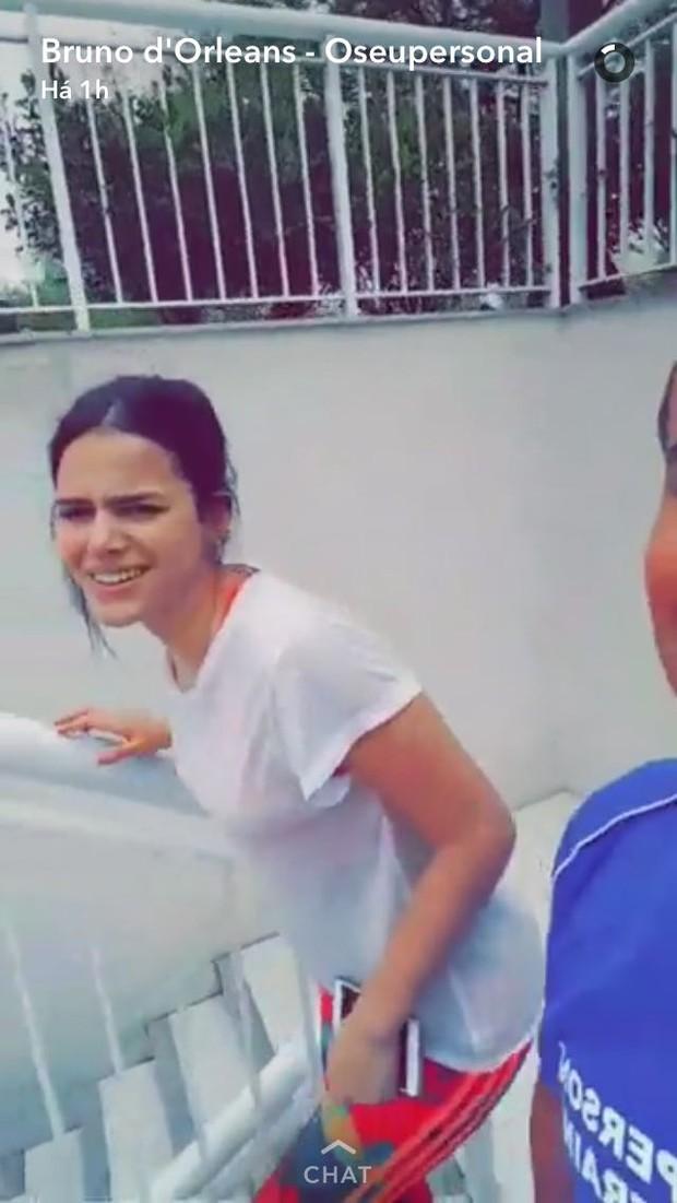 Bruna Marquezine (Foto: Reprodução/Snapchat)
