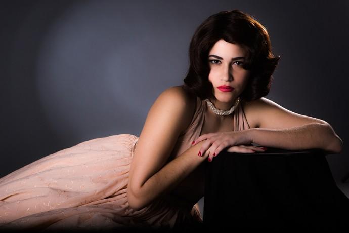Yasmin Gomlevsky virou Hilda Furacão (Foto: Fábio Rocha / Gshow)