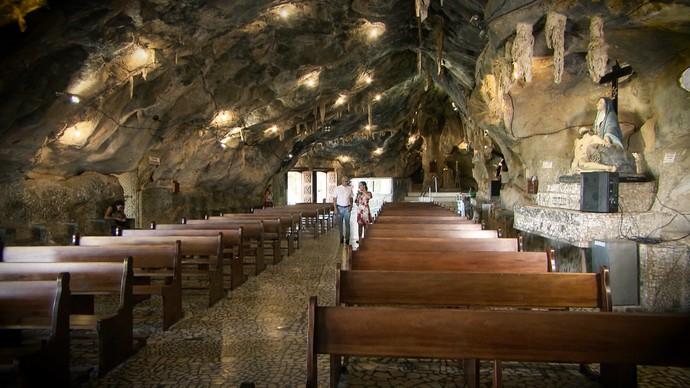 O 'Pé na Pista' faz turismo religioso em Bom Jesus da Lapa (Foto: TV Bahia)