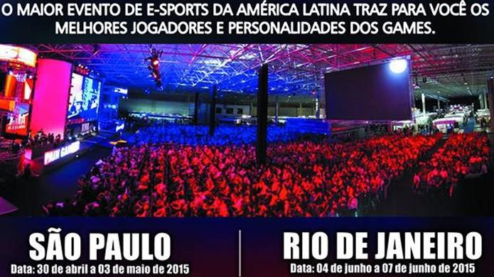 XMA Mega Arena 2015 será realizado tanto em São Paulo quanto no Rio de Janeiro (Foto: Divulgação)