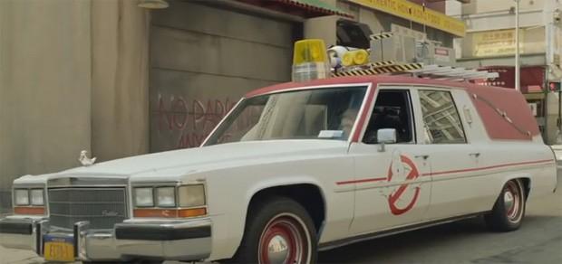 Ecto-1, carro do filme Caça-Fantasmas (Foto: Reprodução/Youtube)