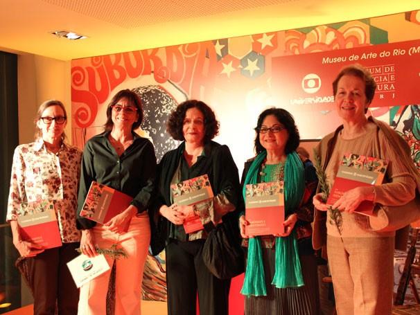 Béa Meira, coordenadora pedagógica da Universidade das Quebradas; Beatriz Azeredo; Heloisa Buarque; Alice Maria (Foto: Thaís Jordão/Divulgação)