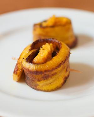 Enroladinho de banana, receita de Isabela Carvalho Guerche (Foto: Thedy Gonçalves)