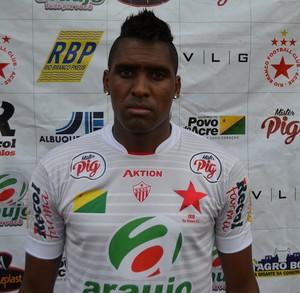 Jônatas Obina, atacante Rio Branco-AC' (Foto: Duaine Rodrigues)