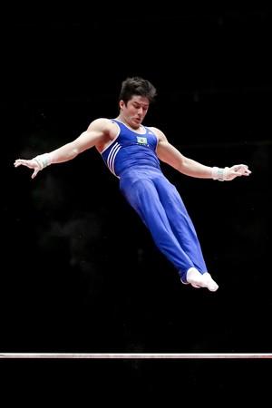 Arthur Nory no Mundial de Glasgow (Foto: Ricardo Bufolin/CBG)