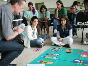 Ação educativa no Inhotim (Foto: Divulgação)